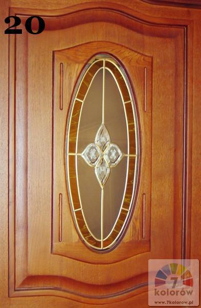 Witraż w drzwiach – model 20