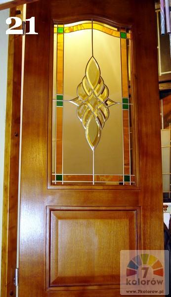 Witraż w drzwiach – model 21