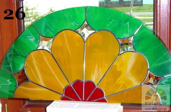Witraż pawi ogon – model 26