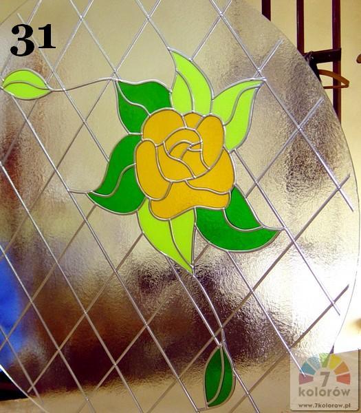 Witraż kwiatowy – model 31