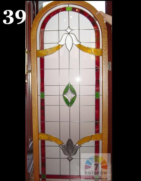 Duży witraż do drzwi – model 39