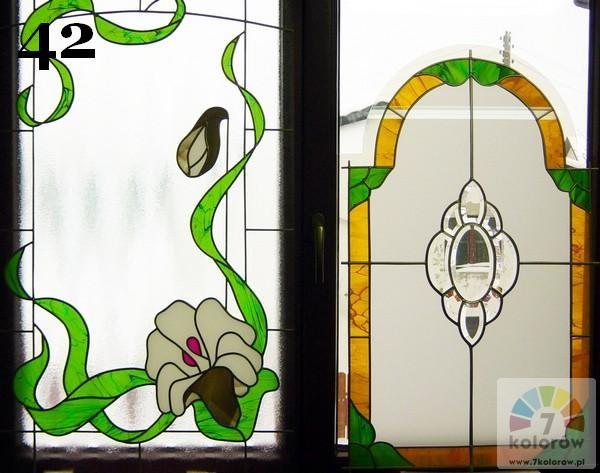 Witraże roślinne – model 42