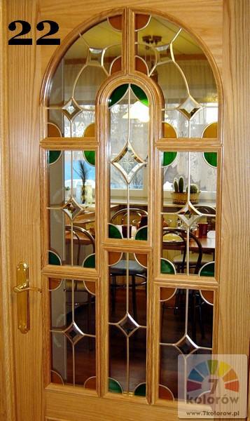 Witraż drzwiowy – model 22