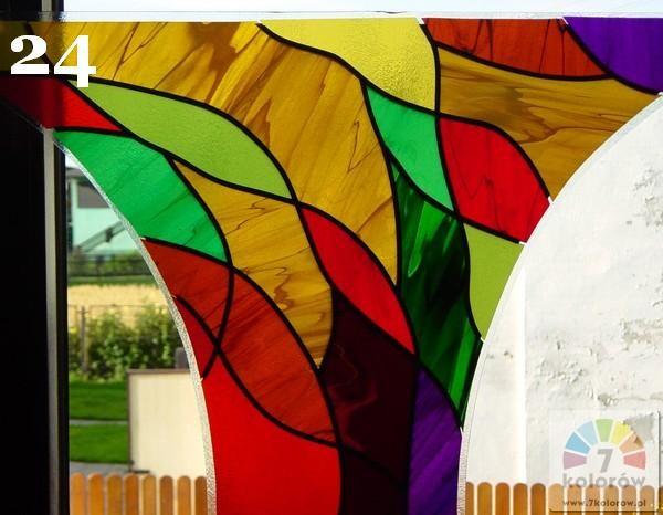 Witraż kolorowy – model 24