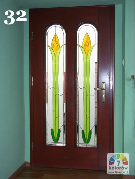Witraż do drzwi – model 32