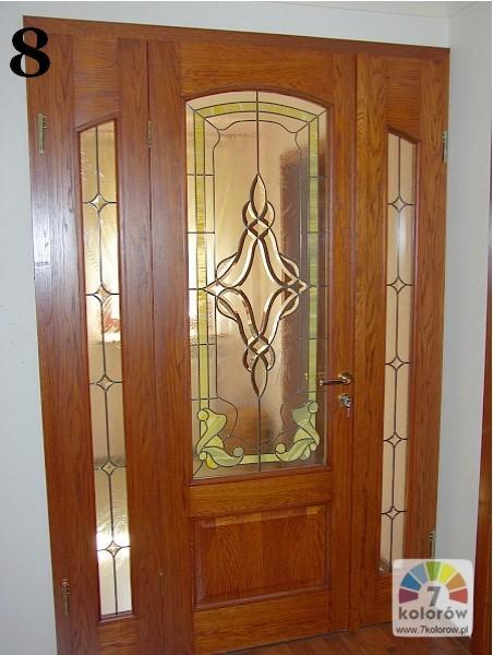 Witraż w drzwiach – model 8